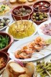 Nourriture espagnole de barre de tapas photo stock