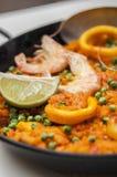 Nourriture espagnole : Paella Image libre de droits