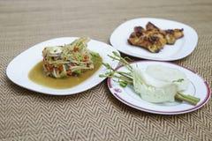 Nourriture est du nord de tradition de la Thaïlande Photos libres de droits