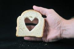 Nourriture et amour Photos libres de droits