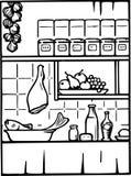 Nourriture et boisson dans la cuisine Photographie stock libre de droits