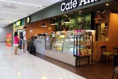 Nourriture et boisson de achat de personnes dans le café Thaïlande Bangkok Images libres de droits
