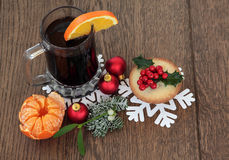 Nourriture et boisson de Christamas Photos libres de droits