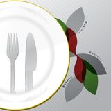 Nourriture et boissons de menu de restaurant Image stock