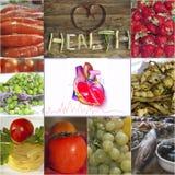 Nourriture et coeur sain Image libre de droits