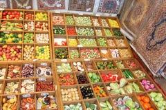 Nourriture et couvertures miniatures Photo stock
