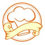 Nourriture et cuisinier Emblem Photographie stock libre de droits