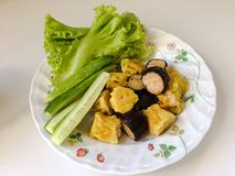 nourriture et légumes Images libres de droits