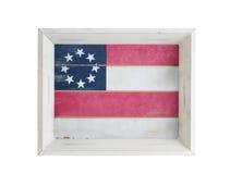 Nourriture et serveur de boissons avec le drapeau des Etats-Unis à l'intérieur sur le fond blanc Photographie stock