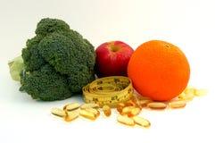 Nourriture et supplément de Healty Image libre de droits
