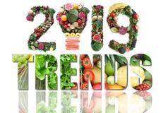 nourriture 2019 et tendances de santé photographie stock