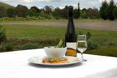 Nourriture et vin Images stock