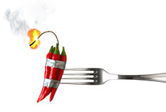 Nourriture explosive Image stock