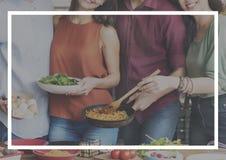 Nourriture faisant cuire le concept de groupe de cuisine Photos stock