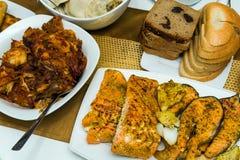 Nourriture faite à la maison traditionnelle de Noël Images libres de droits