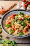 Nourriture fraîche végétale de poulet de cari Image stock