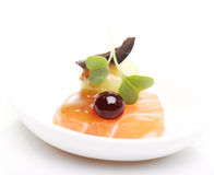 Nourriture gastronome délicieuse Image libre de droits
