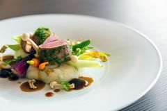Nourriture gastronome délicieuse photographie stock