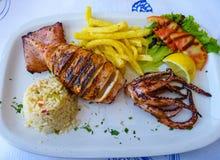 Nourriture grecque saine photo stock