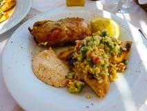 Nourriture grecque saine image libre de droits