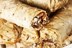 Nourriture grecque, saragli Image stock