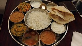 Nourriture indienne image stock