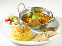 Nourriture indienne Photographie stock libre de droits