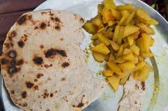 Nourriture indienne de rue images libres de droits