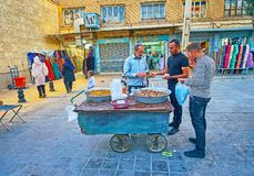 Nourriture iranienne de rue, Chiraz Images stock