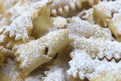 Nourriture italienne de bonbon à carnaval Image libre de droits