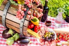 Nourriture italienne dehors photo libre de droits