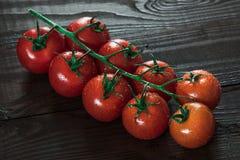 Nourriture italienne fraîche sur le fond en bois Photo stock