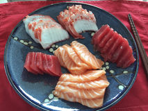 Nourriture japonaise impressionnante : Sashimi, Changhaï, Chine Image stock