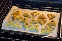 Nourriture juive de vacances de Purim - Hamentashen, Ozen Haman Image libre de droits
