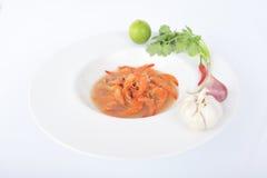 Nourriture locale de Kung Som de villageois Thaïlande Photographie stock libre de droits