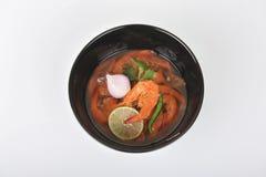 Nourriture locale de Kung Som de villageois Thaïlande Photographie stock