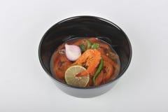 Nourriture locale de Kung Som de villageois Thaïlande Images stock