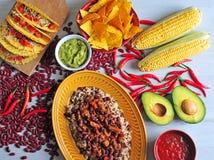 Nourriture mexicaine Photographie stock libre de droits