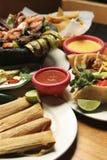 Nourriture mexicaine - verticale Images libres de droits