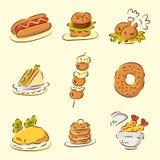 Nourriture mignonne de dessin animé Photos libres de droits