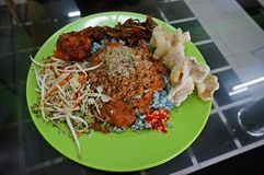 Nourriture, Nasi Kerabu Photos libres de droits