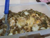 Nourriture philippine américanisée Image libre de droits