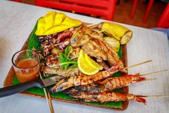 Nourriture philippine de barbecue photos stock