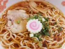 Nourriture, plat japonais de soupe de nouilles de Ramen délicieux Photographie stock