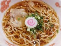 Nourriture, plat japonais de soupe de nouilles de Ramen délicieux Image libre de droits