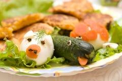 Nourriture pour bébés drôle Photographie stock libre de droits