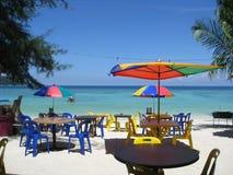 Nourriture presse de la plage photographie stock libre de droits