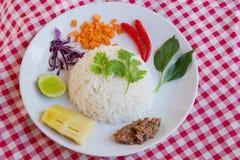 Nourriture propre thaïlandaise chaude et épicée Images libres de droits