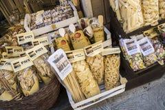 Nourriture régionale autour de Montepulciano, Siena Province, Toscane, AIE photo stock