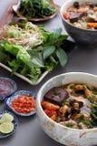 Nourriture, rieu de petit pain et petit pain vietnamiens de canh Image libre de droits
